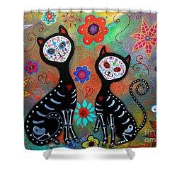 My 2 Cats Dia De Los Muertos Painting By Pristine Cartera Turkus