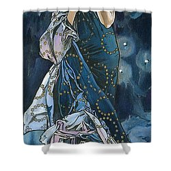 My Acrylic Painting As An Interpretation Of The Famous Artwork Of Alphonse Mucha - Moon - Shower Curtain