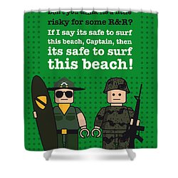My Apocalypse Now Lego Dialogue Poster Shower Curtain by Chungkong Art