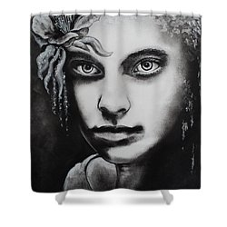 My Beautiful Belladonna Shower Curtain by Carla Carson