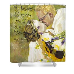 My Beloved Is Mine Shower Curtain