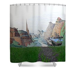 My Bigger Back Yard Shower Curtain by A  Robert Malcom