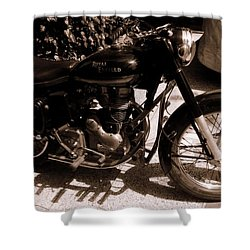 Royal Enfield Bullet 350 Shower Curtain