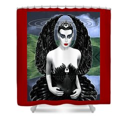 My Black Swan Shower Curtain by Keith Dillon