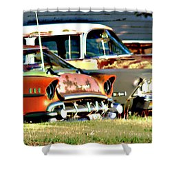 Shower Curtain featuring the digital art My Cars by Cathy Anderson