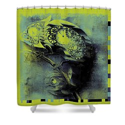 Chameleon - Lime - 01b02 Shower Curtain by Variance Collections