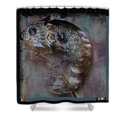 Chameleon - Vspgr01b Shower Curtain by Variance Collections