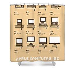 My Evolution Apple Mac Minimal Poster Shower Curtain