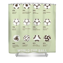 My Evolution Soccer Ball Minimal Poster Shower Curtain