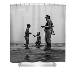 My Family In Thailand Shower Curtain