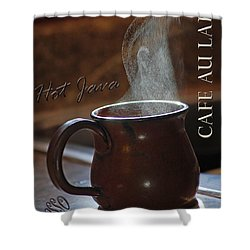 My Favorite Cup Shower Curtain by Robert Meanor