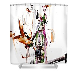 My Form Of Jazz Series - 10187.110709 Shower Curtain by Kris Haas