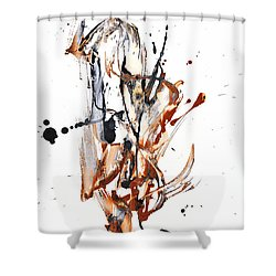 My Form Of Jazz Series - 10188.110709 Shower Curtain by Kris Haas