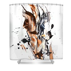 My Form Of Jazz Series - 10189.110709 Shower Curtain by Kris Haas