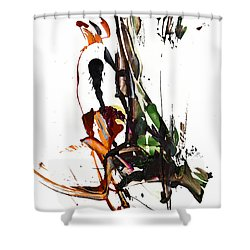 My Form Of Jazz Series - 10185.110709 Shower Curtain by Kris Haas