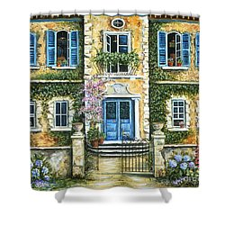 My French Villa Shower Curtain by Marilyn Dunlap