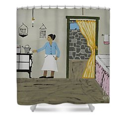 Shower Curtain featuring the painting Coal Miners Wife by Jeffrey Koss