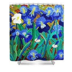 My Iris - Inspired  By Vangogh Shower Curtain