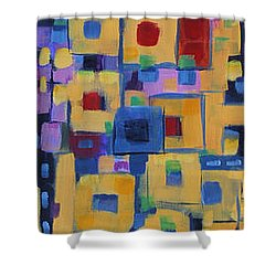 Shower Curtain featuring the painting My Jazz N Blues 1 by Holly Carmichael