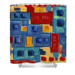 Shower Curtain featuring the painting My Jazz N Blues 2 by Holly Carmichael
