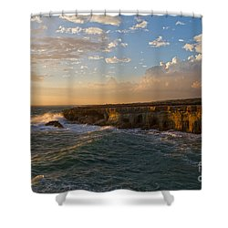 My Land Is The Sea Shower Curtain by Stelios Kleanthous