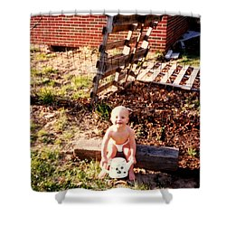 My Lil Gardener Shower Curtain by Kelly Awad