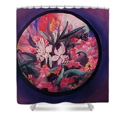 My Lilies Shower Curtain by Christy Saunders Church