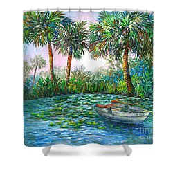 My Little Boat Shower Curtain