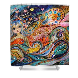My Little Mermaid Lucille Shower Curtain by Elena Kotliarker