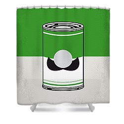 My Mario Warhols Minimal Can Poster-luigi Shower Curtain by Chungkong Art