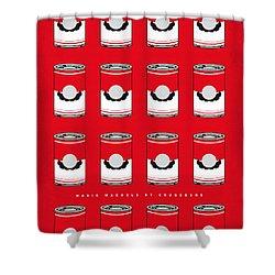 My Mario Warhols Minimal Can Poster-mario-2 Shower Curtain by Chungkong Art