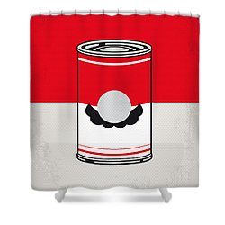 My Mario Warhols Minimal Can Poster-mario Shower Curtain