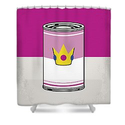My Mario Warhols Minimal Can Poster-peach Shower Curtain