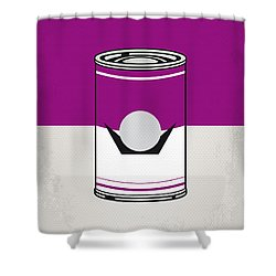 My Mario Warhols Minimal Can Poster-waluigi Shower Curtain
