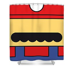 My Mariobros Fig 01 Minimal Poster Shower Curtain