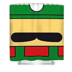My Mariobros Fig 02 Minimal Poster Shower Curtain