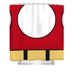My Mariobros Fig 05a Minimal Poster Shower Curtain