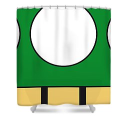 My Mariobros Fig 05b Minimal Poster Shower Curtain by Chungkong Art