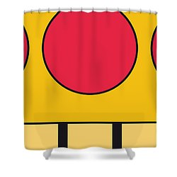 My Mariobros Fig 05c Minimal Poster Shower Curtain