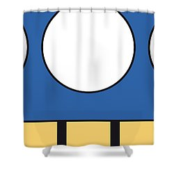 My Mariobros Fig 05d Minimal Poster Shower Curtain
