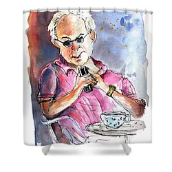 My Mobile And Me Shower Curtain by Miki De Goodaboom