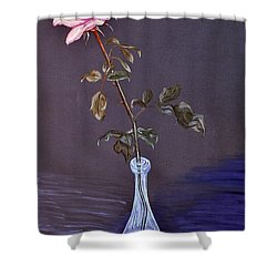 My Mothers Rose Shower Curtain by Nina Ficur Feenan
