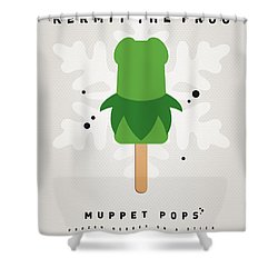 My Muppet Ice Pop - Kermit Shower Curtain