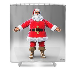 My Name Is Santa Shower Curtain