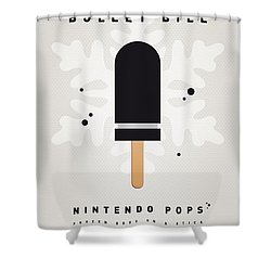 My Nintendo Ice Pop - Bullet Bill Shower Curtain by Chungkong Art
