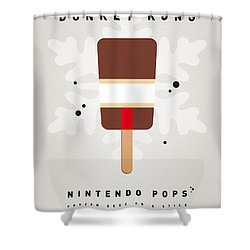 My Nintendo Ice Pop - Donkey Kong Shower Curtain by Chungkong Art