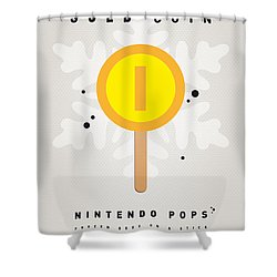 My Nintendo Ice Pop - Gold Coin Shower Curtain