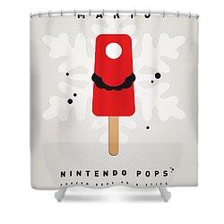 My Nintendo Ice Pop - Mario Shower Curtain by Chungkong Art