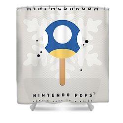 My Nintendo Ice Pop - Mini Mushroom Shower Curtain
