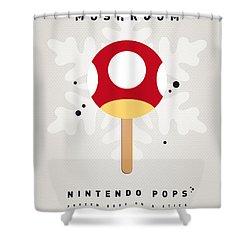 My Nintendo Ice Pop - Mushroom Shower Curtain